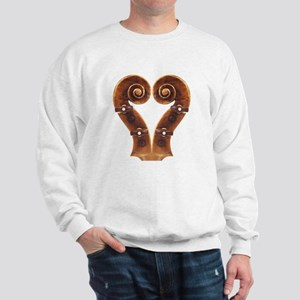 Violin Scroll Heart Sweatshirt